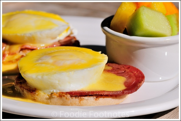 Eggs Benedict at Row House Cafe
