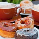 Hot Chocolate and Donuts at Dynamo Donuts in San Francisco.