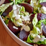 Salad with Beets and Yoghurt Dressing