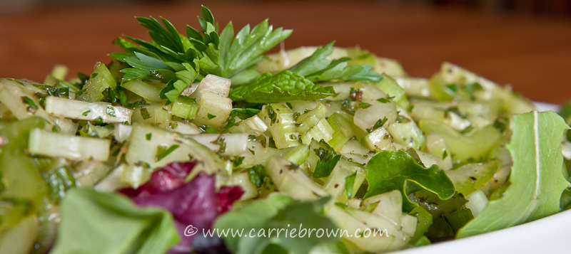 Celery and Cucumber Salad with Herbs | Carrie Brown