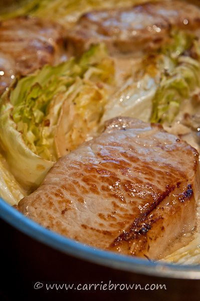 Pork Chops with Bacon and Cabbage