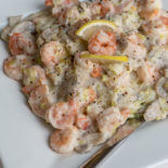 Prawns with Leeks and Lemon Pepper   Carrie Brown