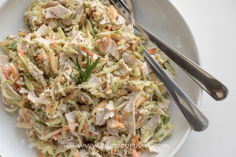 Warm Turkey and Almond Slaw