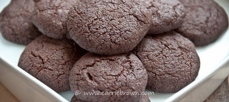 Dark Chocolate Espresso Cookies » Carrie Brown | Life in the Sane ...