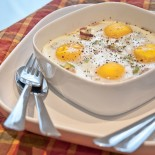 Oven Bacon and Eggs | Carrie Brown