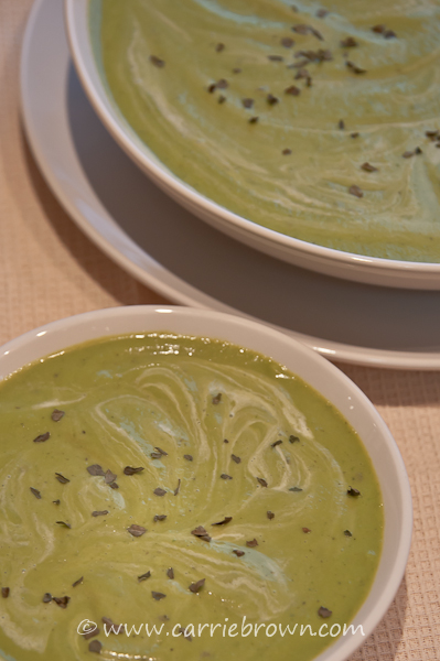 Carrie Brown  |  Sauteed Pea Soup
