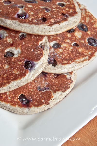 Vanilla Blueberry Pancakes | Carrie Brown