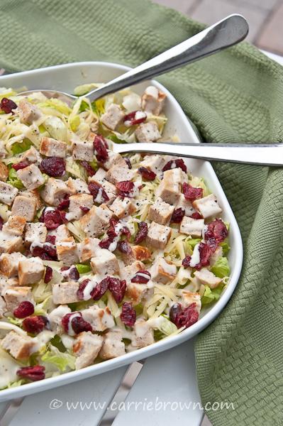Turkey Burger Salad | Carrie Brown