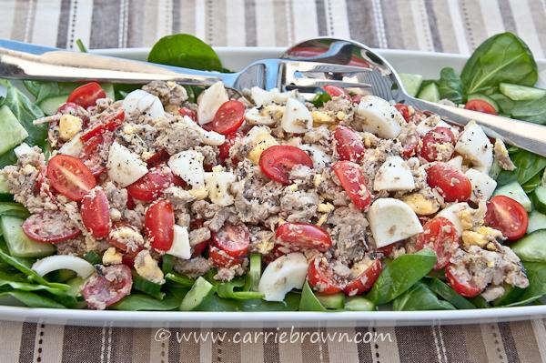 Tomato Sardine Salad | Carrie Brown