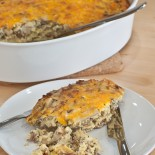 Sausage-and-Mushroom-Bake | Carrie Brown