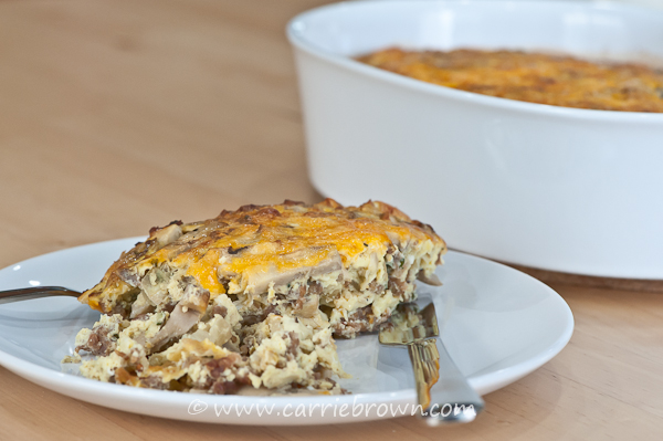 Sausage Mushroom Bake | www.carriebrown.com