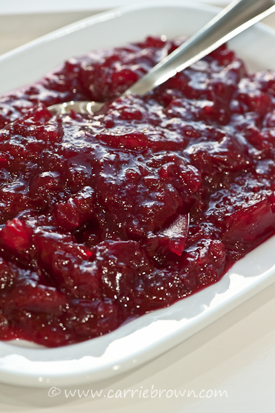 SANE Cranberry Sauce  |  Carrie Brown