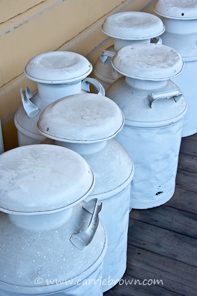 Milk Churns | Carrie Brown