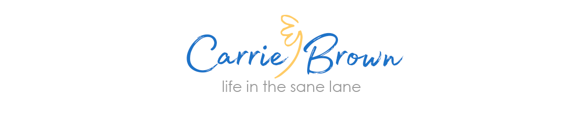 Carrie Brown  |  Life in the Sane Lane logo