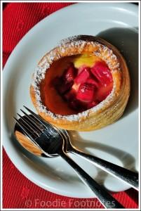 Honore Bakery Rhubarb Vanilla Bean Tart