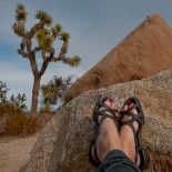Carrie Brown's Feet at Joshua Tree National Park, California.