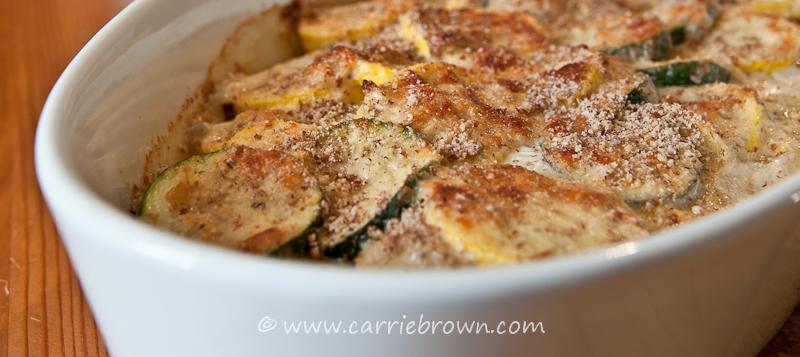 Almond Parmesan Squash