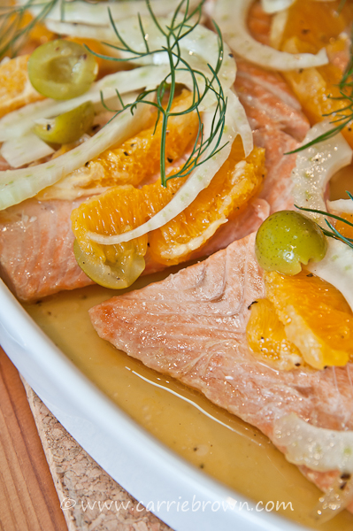 Salmon with Oranges and Fennel