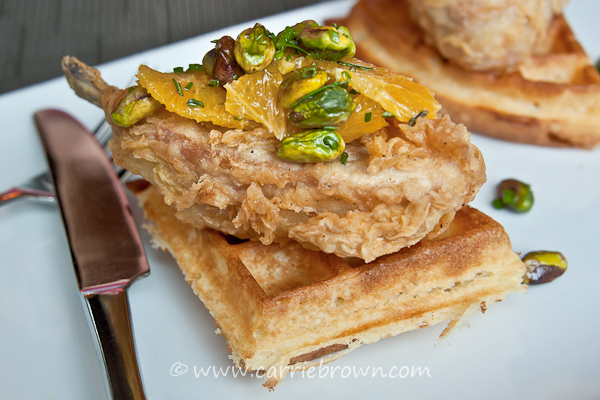 Chicken and Waffles at Mistral Kitchen, Seattle