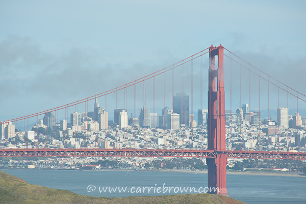 Golden Gate Bridge and city view, San Francisco