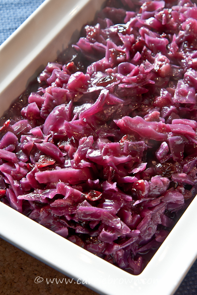 Hot and Fruity Red Cabbage