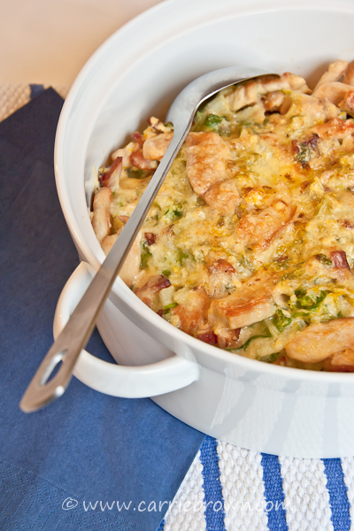 Chicken and Cabbage Carbonara