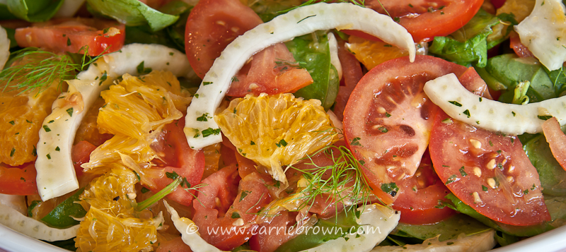 Orange, Fennel and Tomato Salad