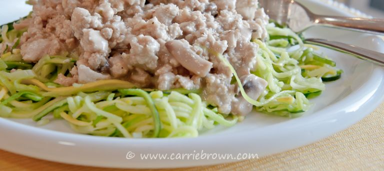 Turkey and Mushroom Stroganoff | Carrie Brown