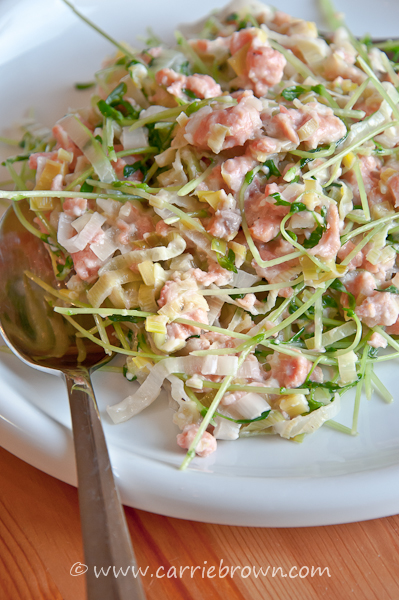 Smoked Salmon and Sprout Saute  |  Carrie Brown