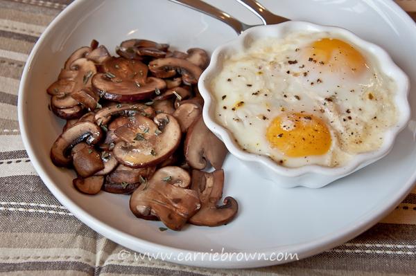Turkey Tarragon Baked Eggs