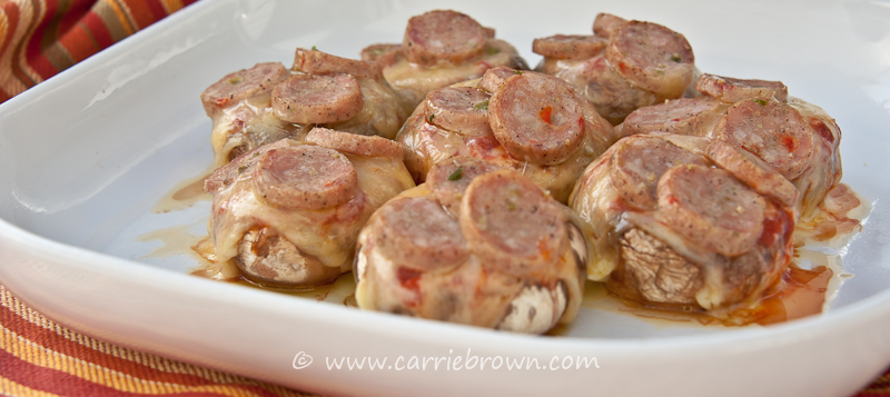 Mushroom Pizza Bites | Carrie Brown
