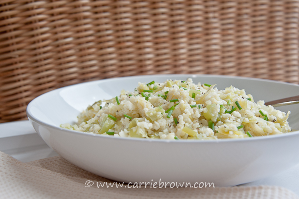 Leek and Cauliflower Risotto | Carrie Brown