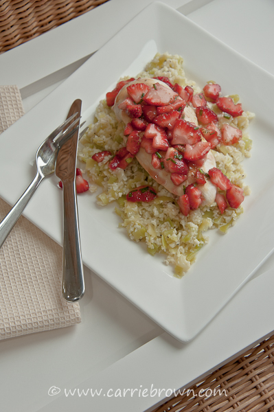 Pan-fried Chicken with Strawberry Salsa   Carrie Brown