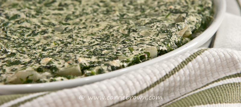 Baked Creamed Spinach | Carrie Brown
