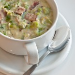 Bacon and Brussels Sprout Chowder | Carrie Brown