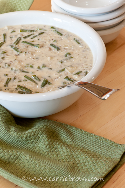 Green Bean Casserole Soup  |  Carrie Brown
