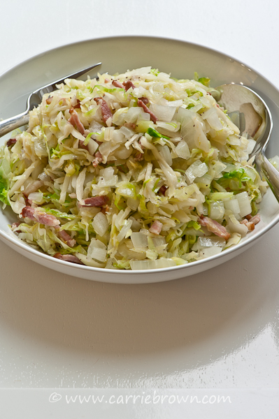 Bacon Hot Slaw | Carrie Brown | Sane Eating