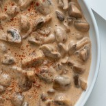 Smoky Creamed Mushrooms | Carrie Brown