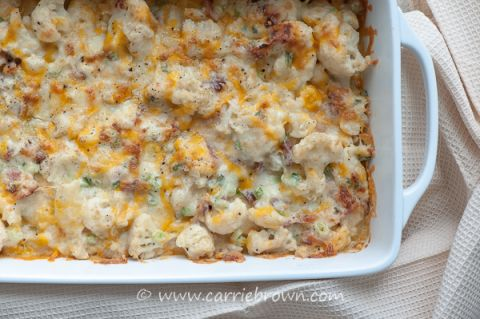 Loaded Twice Baked Cauliflower | www.carriebrown.com