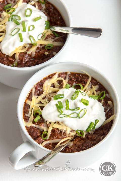 We Don't Need No Beans Chili | Carrie Brown