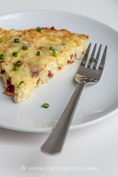 Baked Cheese and Bacon Pie | Carrie Brown