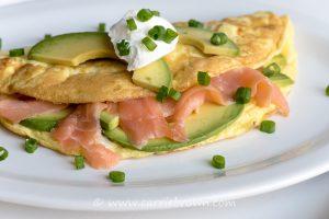 Salmon Avocado Omelet | Carrie Brown