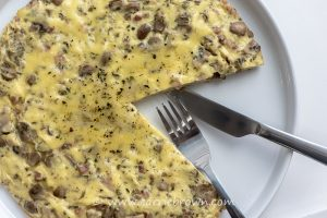 Mushroom and Pancetta Frittata | Carrie Brown
