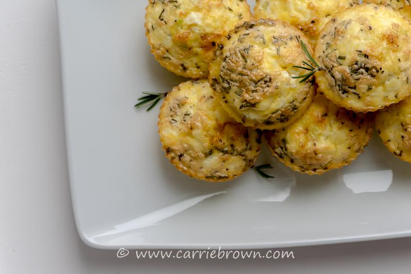 Ham Leek and Feta Egg Cups | Carrie Brown