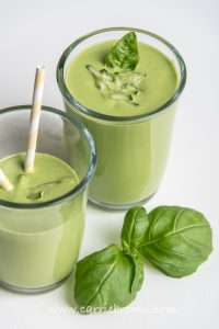 Creamy Green Basil Smoothie   Carrie Brown