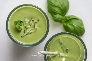 Creamy Green Basil Smoothie | Carrie Brown