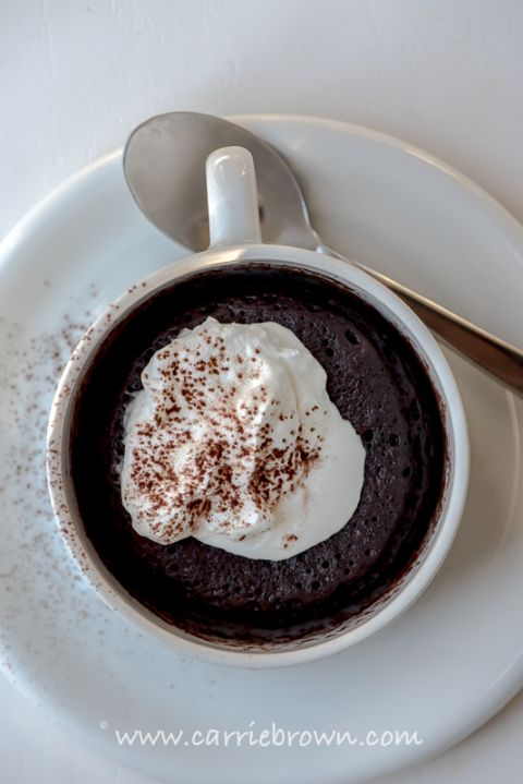 Chocolate Fudge Mug Cake | Carrie Brown