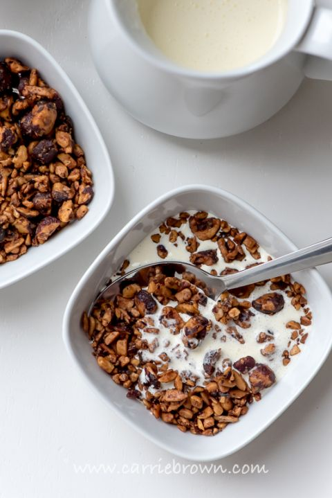 Vanilla Hazelnut Granola | Carrie Brown