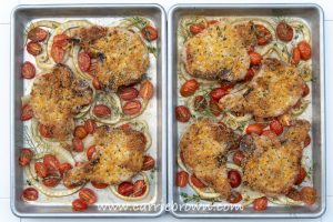 Orange Thyme Sheet Pan Pork Chops | Carrie Brown