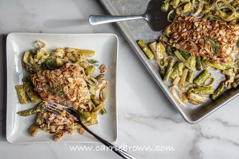 Lemon Dill Sheet Pan Salmon | Carrie Brown